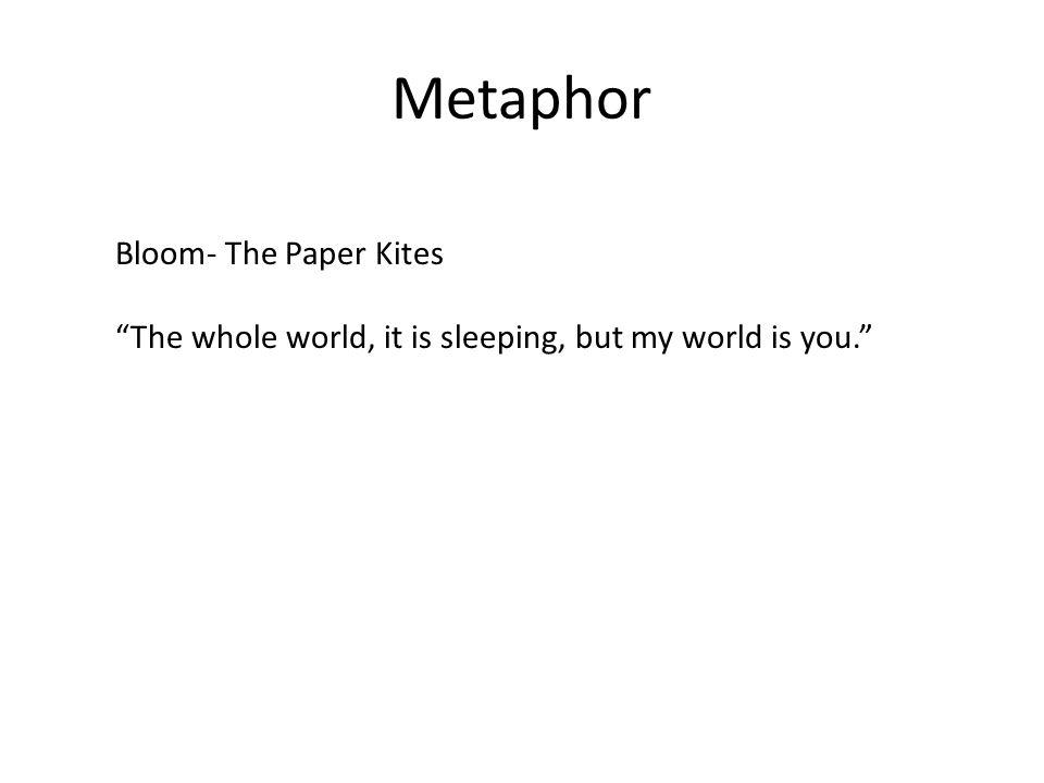 Metaphor Bloom- The Paper Kites