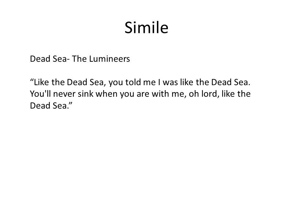 Simile Dead Sea- The Lumineers