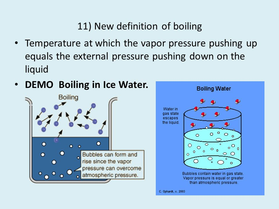 11) New definition of boiling