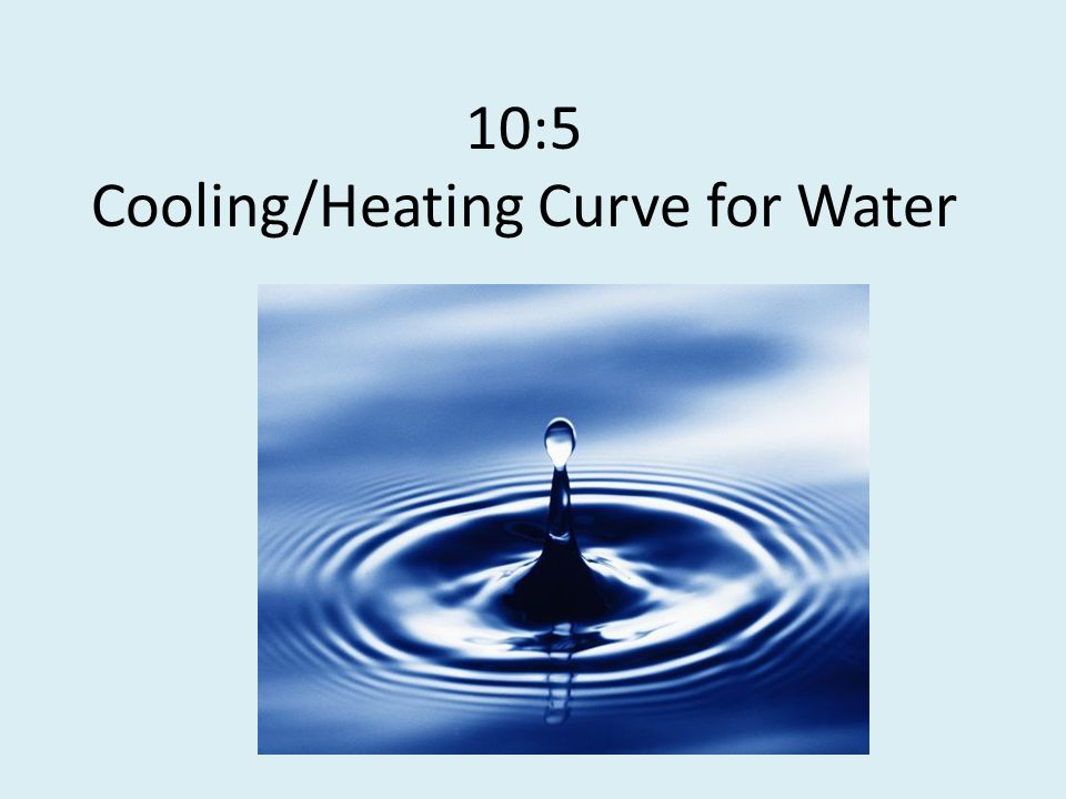 10:5 Cooling/Heating Curve for Water