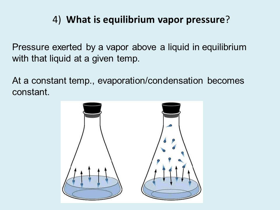 4) What is equilibrium vapor pressure