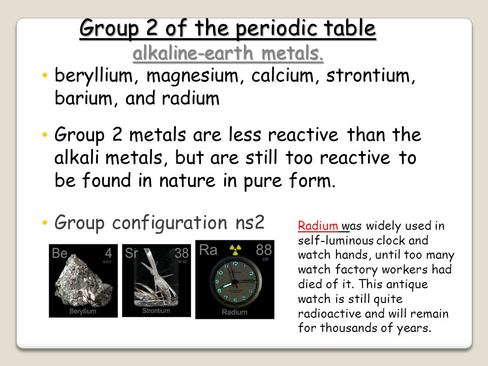 Group 2 of the periodic table