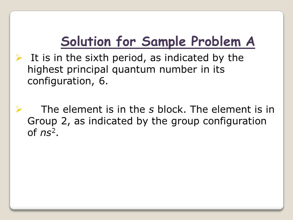 Solution for Sample Problem A