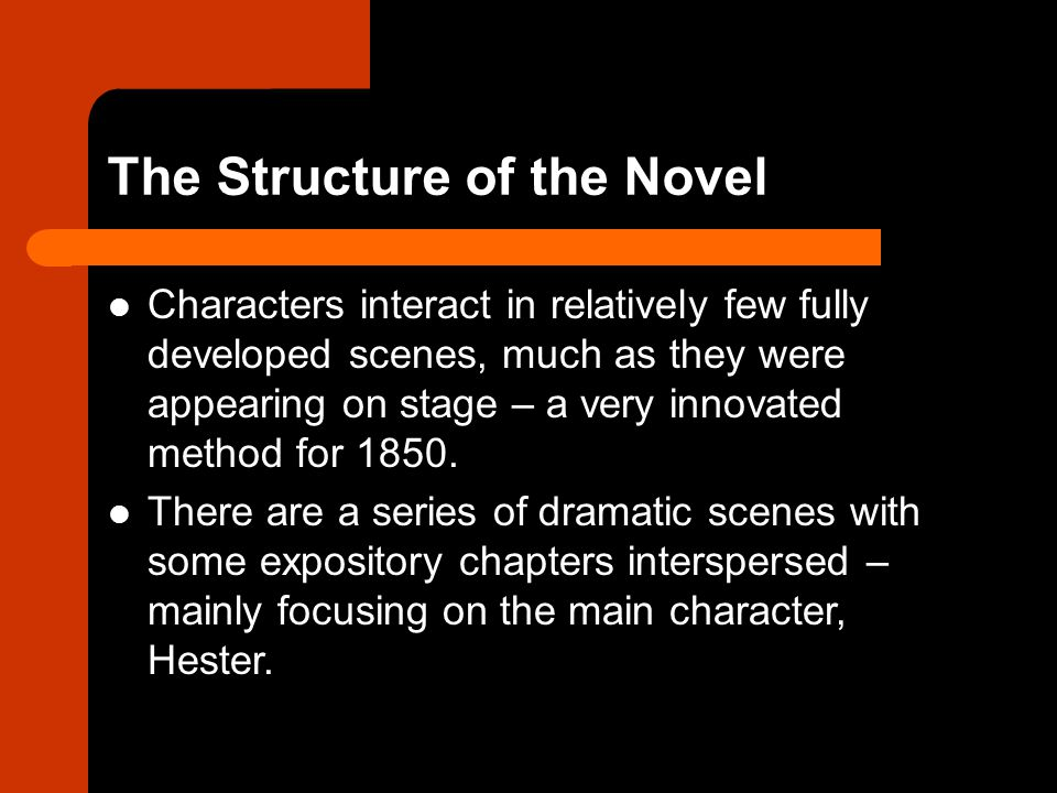 The Structure of the Novel