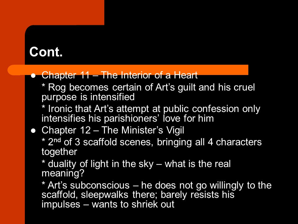 Cont. Chapter 11 – The Interior of a Heart