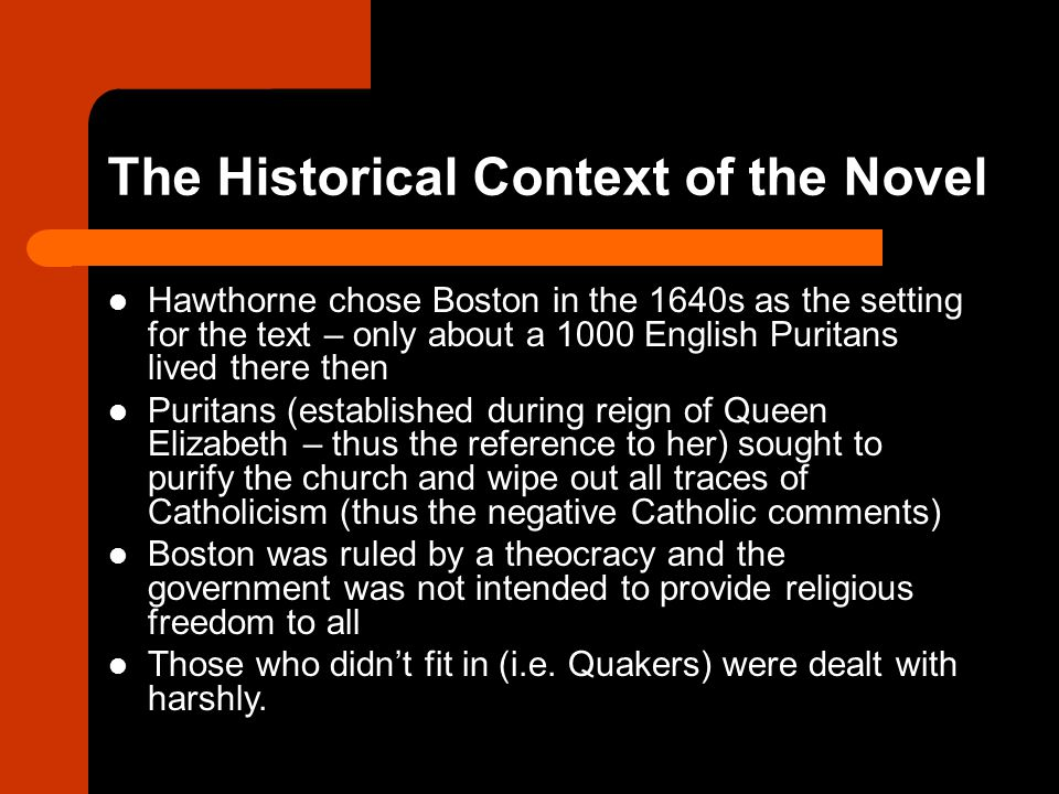 The Historical Context of the Novel