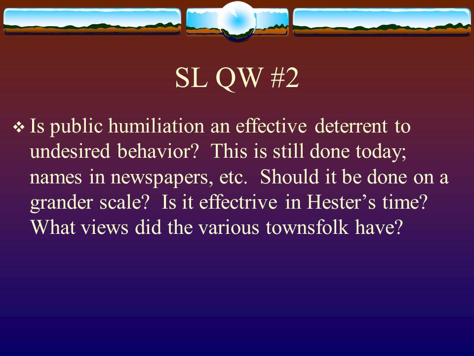 SL QW #2