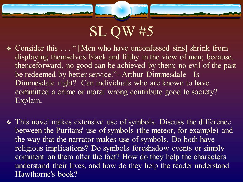 SL QW #5