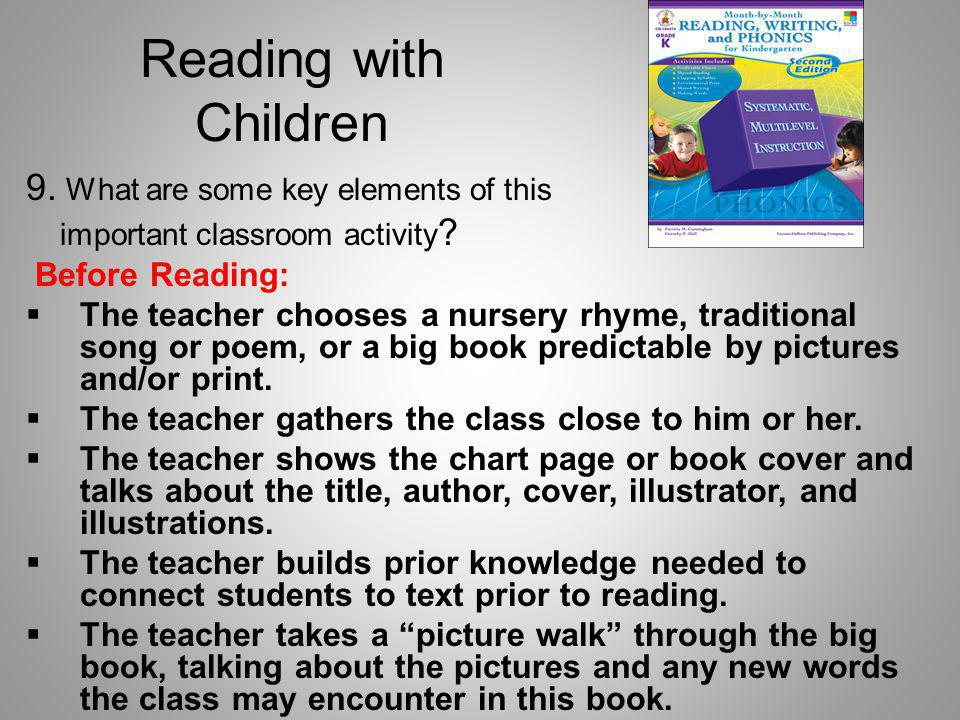 Reading with Children 9. What are some key elements of this