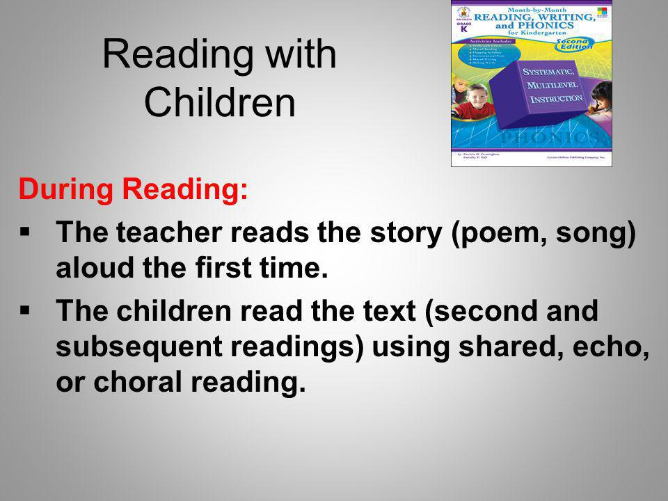 Reading with Children During Reading: