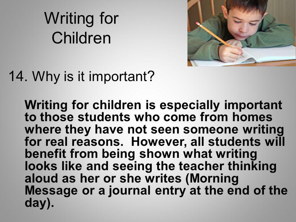 Writing for Children 14. Why is it important