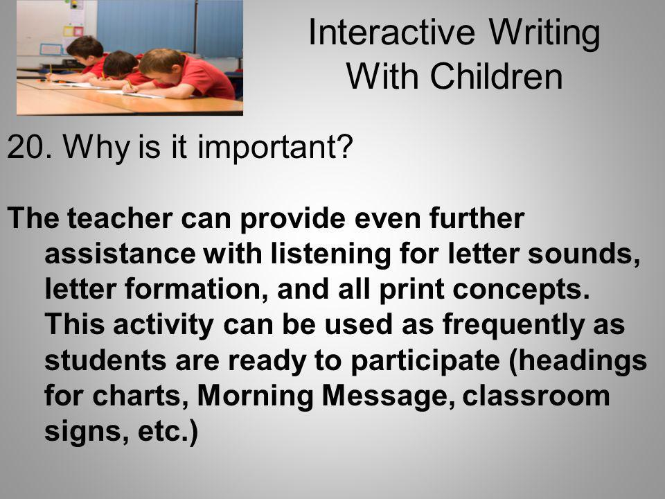 Interactive Writing With Children
