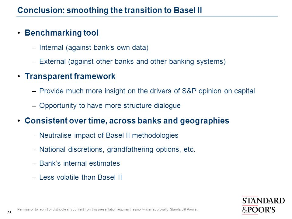 Conclusion: smoothing the transition to Basel II