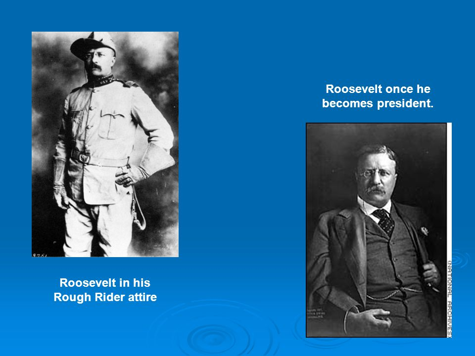 Roosevelt once he becomes president.