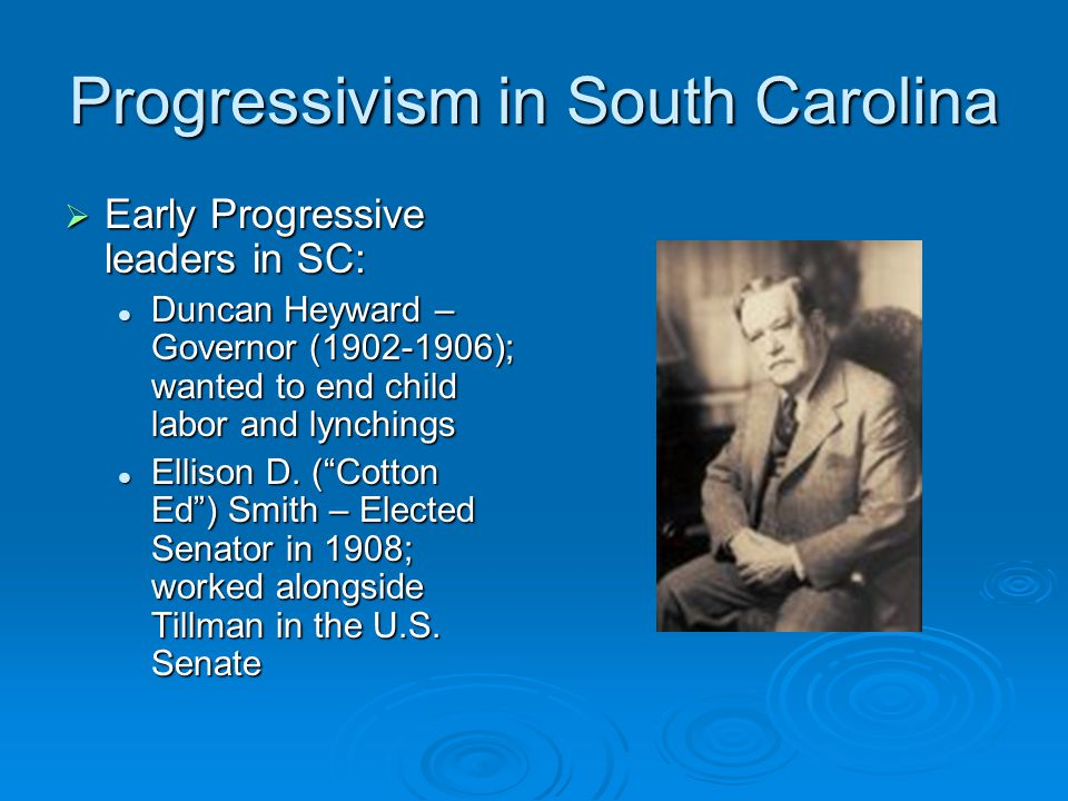 Progressivism in South Carolina