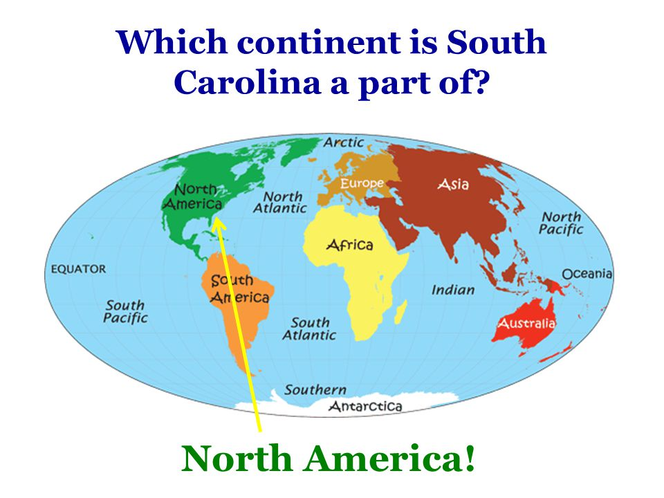 Which continent is South Carolina a part of