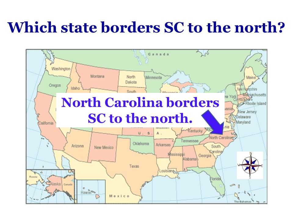 Which state borders SC to the north