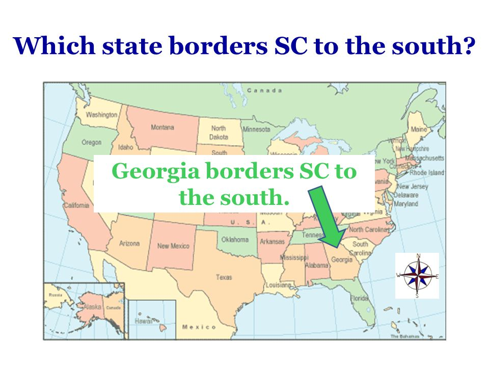 Which state borders SC to the south