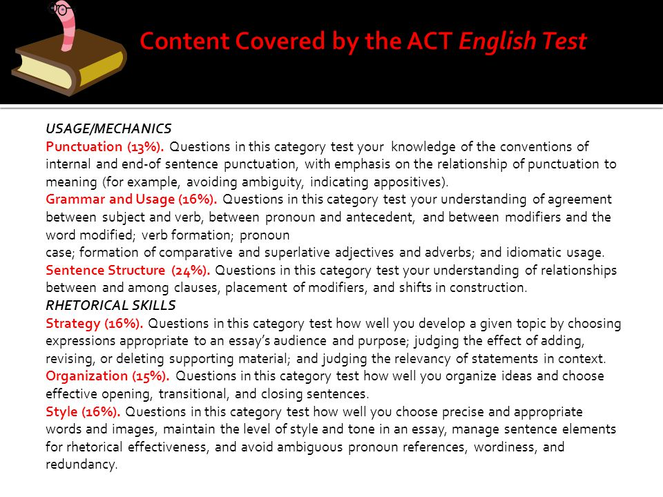 Content Covered by the ACT English Test