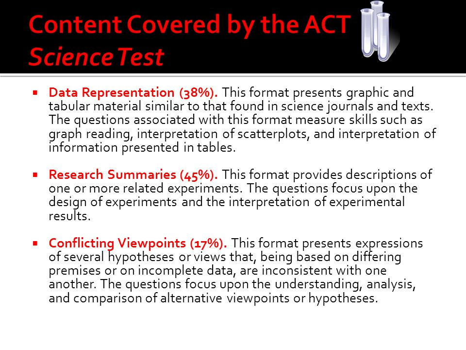 Content Covered by the ACT Science Test