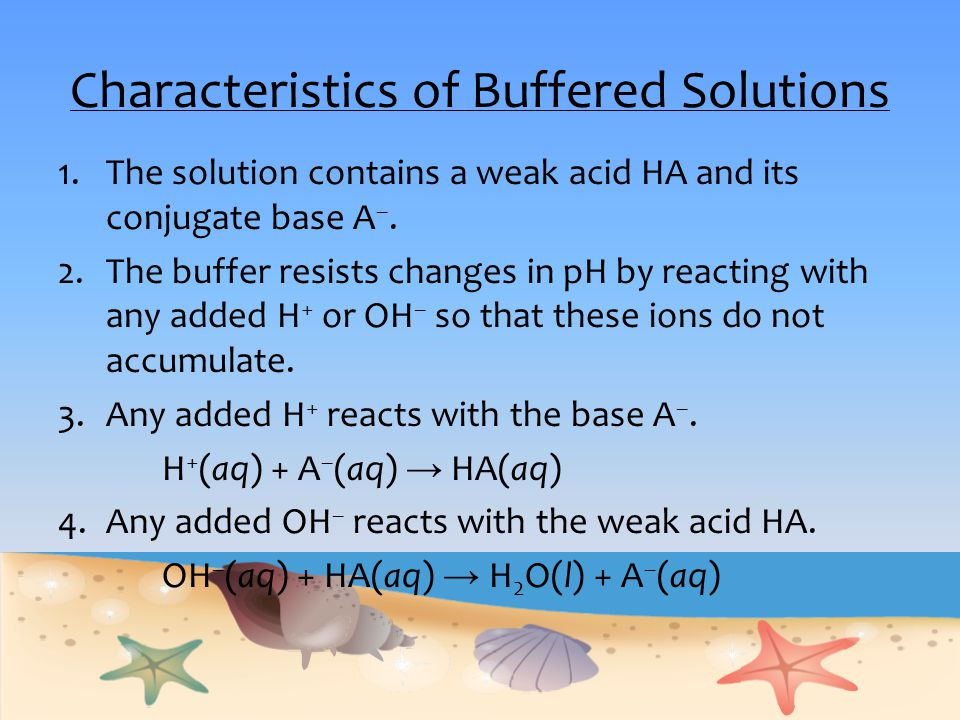 Characteristics of Buffered Solutions