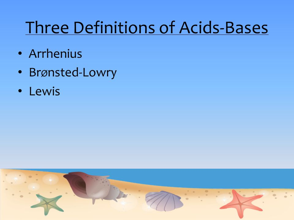 Three Definitions of Acids-Bases