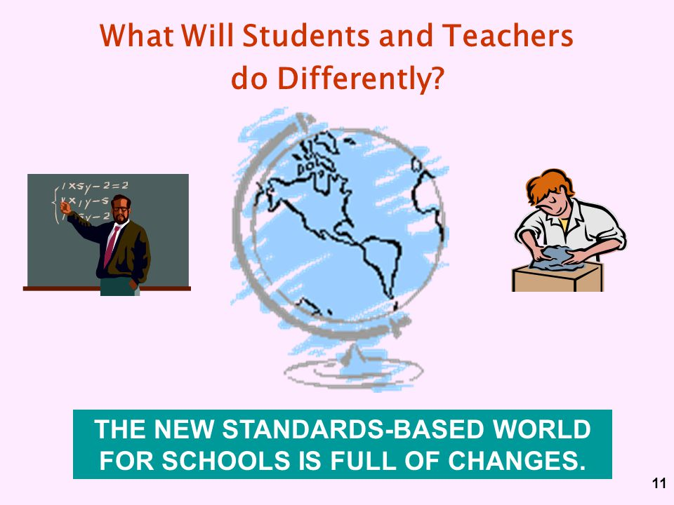 What Will Students and Teachers do Differently