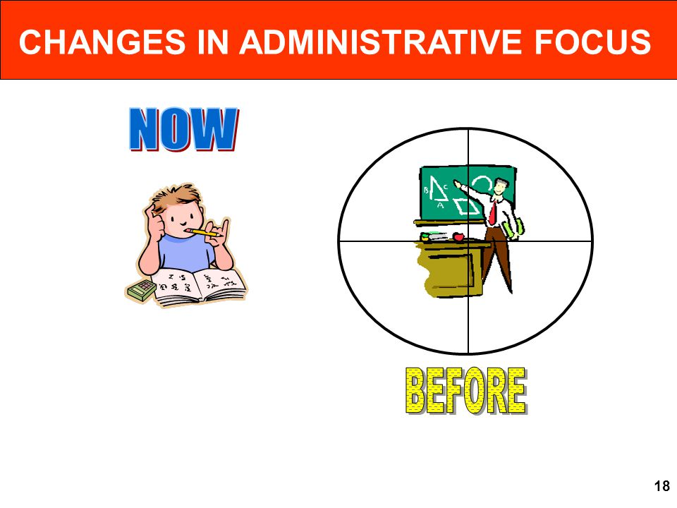 CHANGES IN ADMINISTRATIVE FOCUS