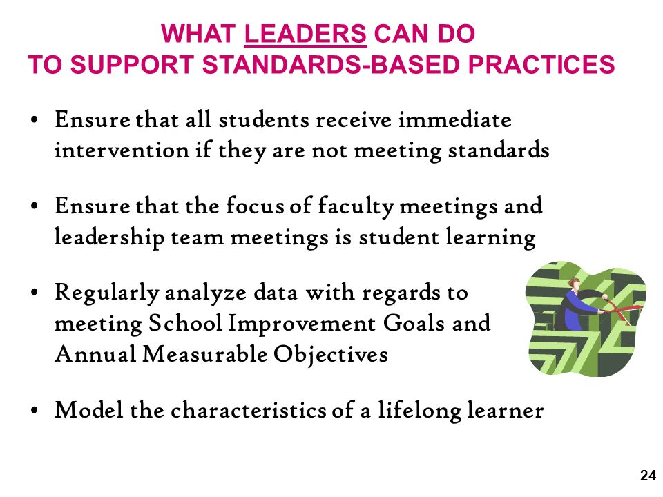 TO SUPPORT STANDARDS-BASED PRACTICES
