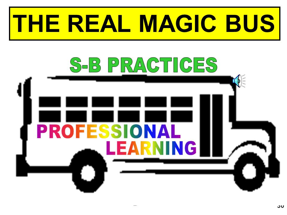 THE REAL MAGIC BUS PROFESSIONAL LEARNING S-B PRACTICES ACTIVITY