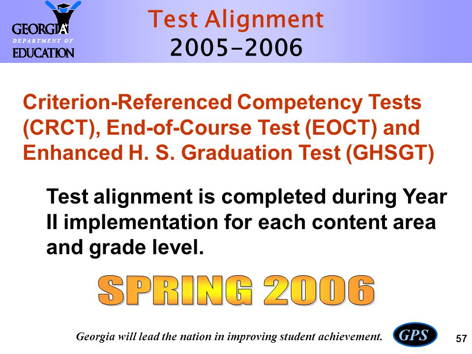 Test Alignment 2005-2006 SPRING 2006