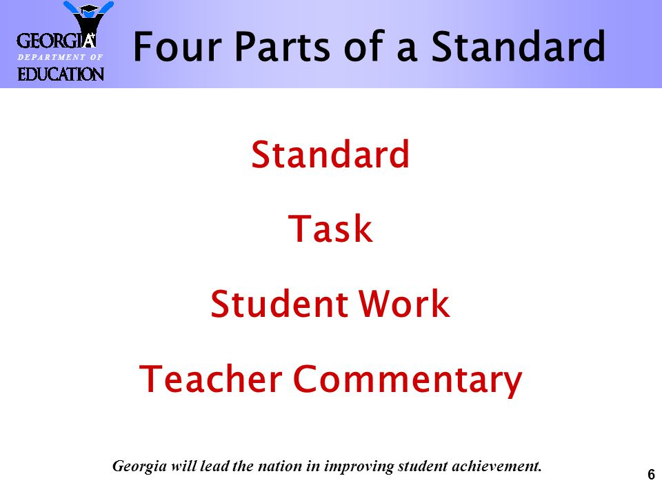 Four Parts of a Standard
