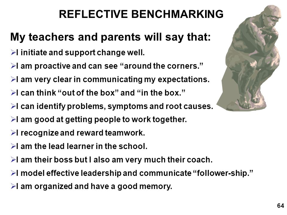 REFLECTIVE BENCHMARKING