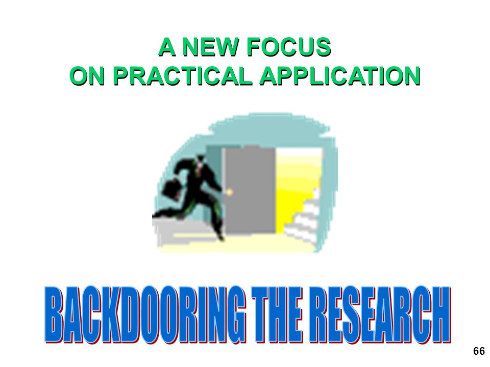ON PRACTICAL APPLICATION