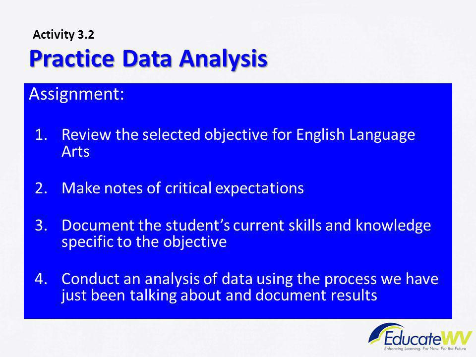 Practice Data Analysis