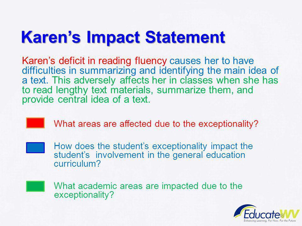 Karen's Impact Statement