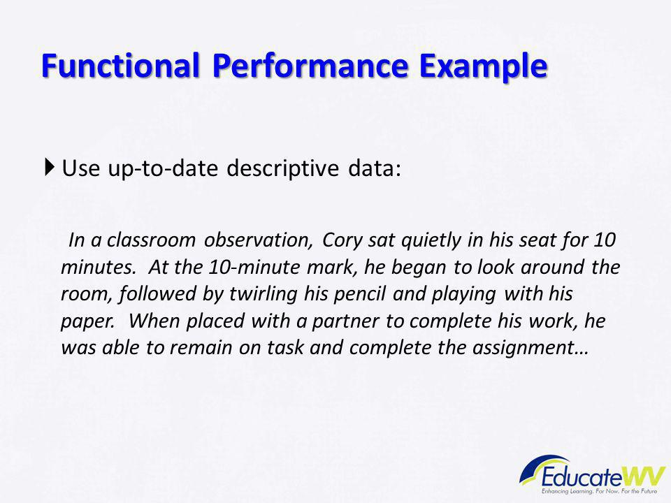 Functional Performance Example
