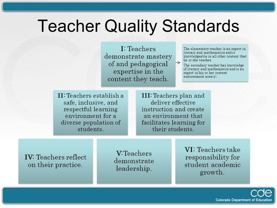 Teacher Quality Standards