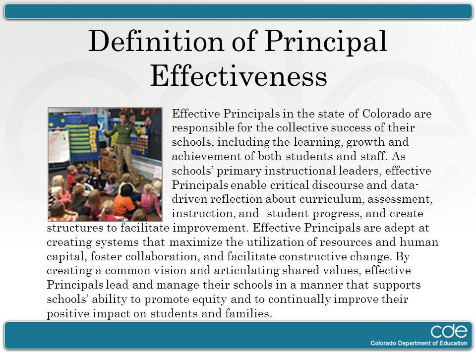 Definition of Principal Effectiveness