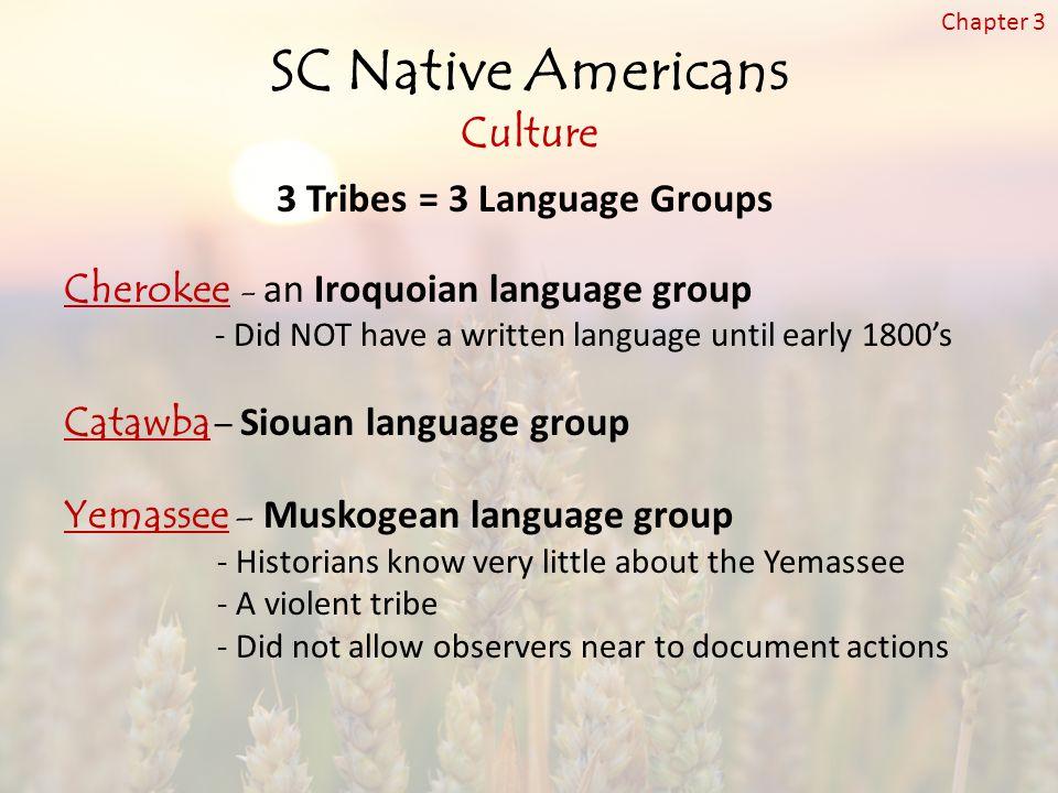 SC Native Americans Culture