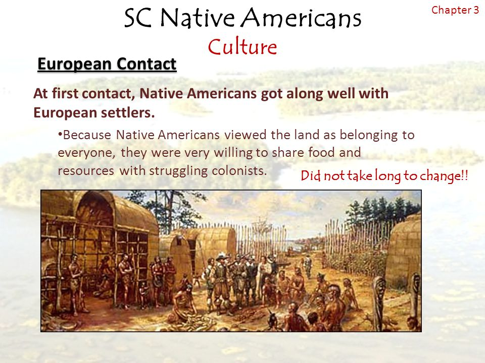"how the lives of the americans changed with the coming of the europeans Record of the native american perspective on europeans and their culture  in  their lives heard the teaching of jesus concerning temperance  transformed  into white men""  indians) have since the arrival of the europeans not only  retired."