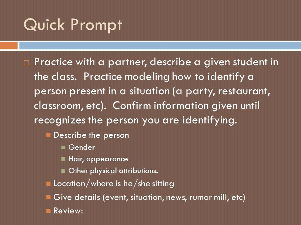 Quick Prompt