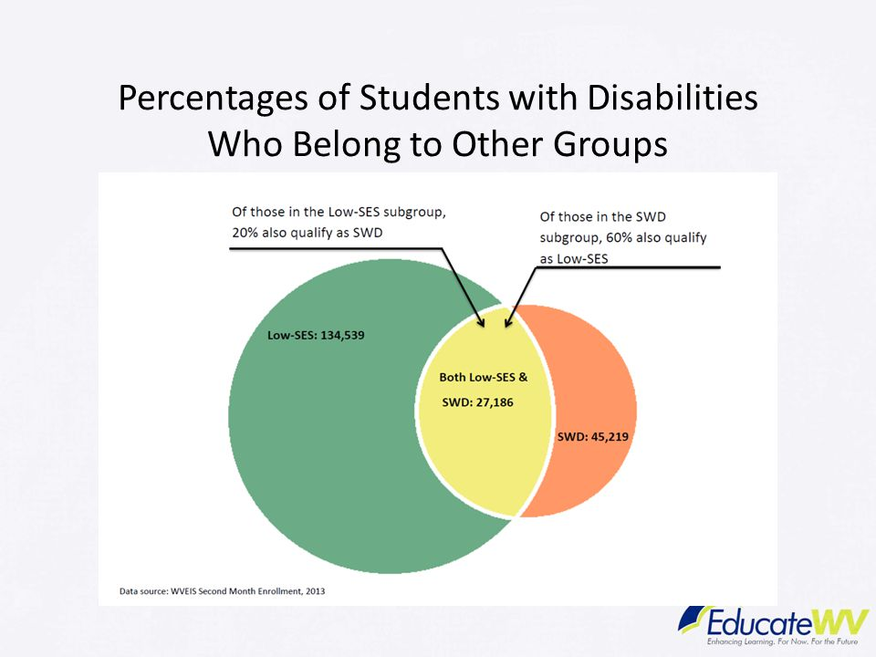 Percentages of Students with Disabilities Who Belong to Other Groups