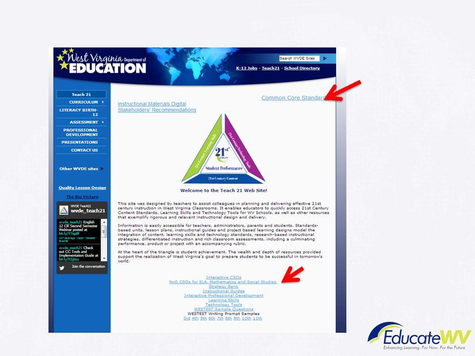 Trainer Notes: Teach 21 Website