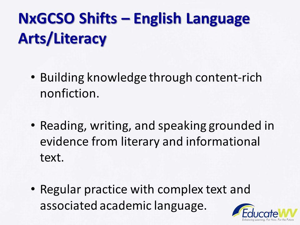NxGCSO Shifts – English Language Arts/Literacy