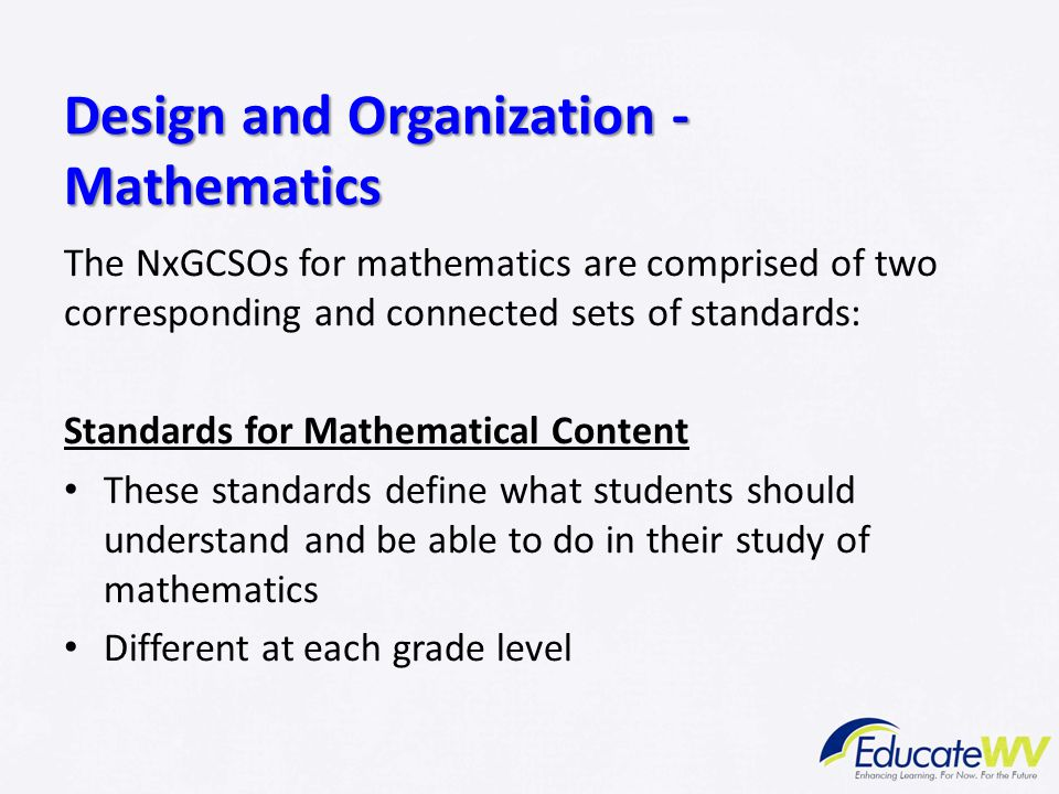 Design and Organization - Mathematics