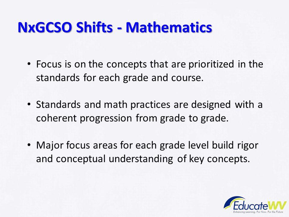 NxGCSO Shifts - Mathematics