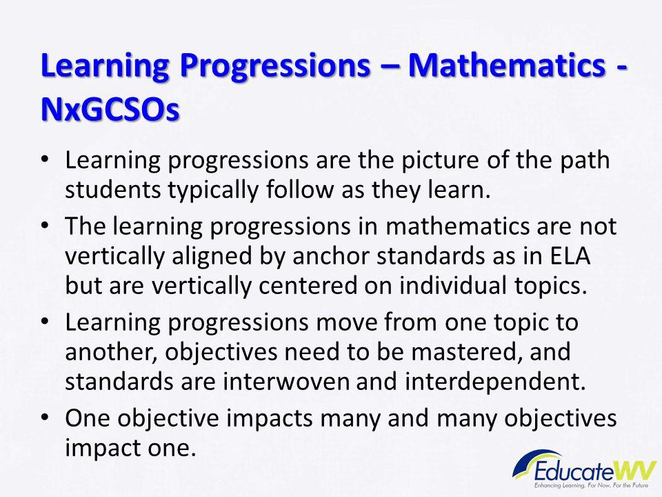 Learning Progressions – Mathematics - NxGCSOs