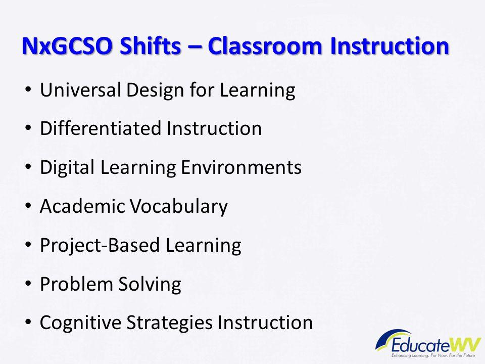 NxGCSO Shifts – Classroom Instruction