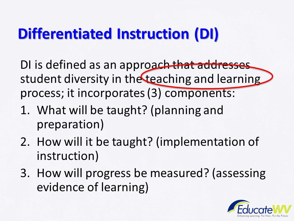 Differentiated Instruction (DI)